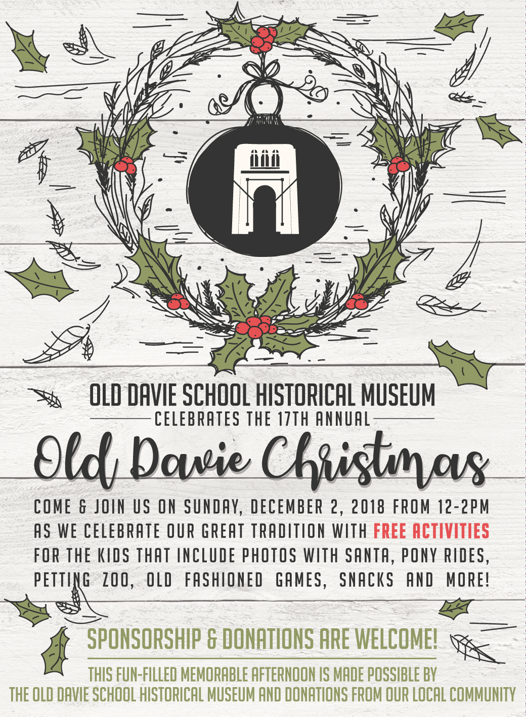 Old Davie Christmas – Old Davie School Historical Museum